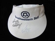 PGA GOLF TOUR DUFFY WALDORF PAUL AZINGER AUTOGRAPH SOUTHWESTERN BELL HAT VISOR