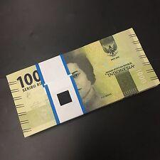 Bundle Lot 100 PCS, Indonesia 1000 Rupiah, 2016/2017, P-NEW, UNC New Design