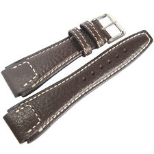 22mm RIOS Mens Nature Mocha Brown Buffalo Leather German Pilot Watch Band Strap