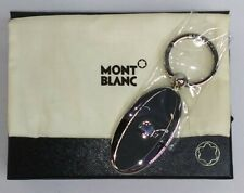 MONTBLANC Keyring 114563 black leather and stainless steel