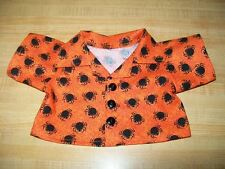 """ORANGE WEBS+BLACK SPIDERS HALLOWEEN shirt for 16-17"""" CPK Cabbage Patch Kids"""