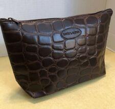 Estee Lauder Brown Alligator Pattern Cosmetic Tote / Bag
