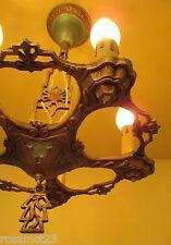 Vintage Lighting 1930s LaSalle set. One chandelier. Two sconces