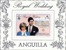 ANGUILLA 1981 ROYAL WEDDING $5 MINIATURE SHEET MNH