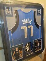 Luka Doncic Authentic Autograph Framed Jersey COA NBA Mavericks ALL NBA