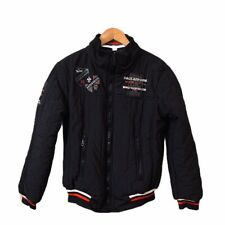 Paul & Shark Yachting Mens Size Small Puffer Coat Jacket Patches Black Red White