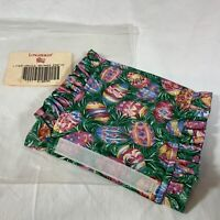 """Longaberger Liner """"HANDLE GRIPPER"""" Easter Egg Fabric"""