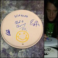 "Gfa Chad Channing, Dale & Dan * Nirvana * Signed 10"" Drumhead N3 Coa"