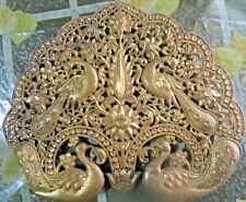 1900's Stunning Ornamental Peacock Collection Carved Cut design Metal fixture