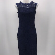 NWT Stanzio Navy Blue Sleeveless Lace Dress Size Small