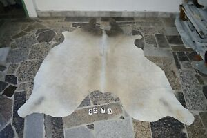 GRAY BUTTER CREAM  - Rug HAIR ON SKIN  Leather cowhide 4271-   77'' x  70''
