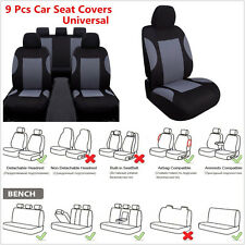 9 Pcs/Set Breathable Polyester Autos Seat Cover + Headrest Covers & Accessories (Fits: More than one vehicle)