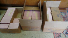 1,000 Vtg NOS Pink w/white Marbling Plastic Wall TILES Back Splash 1950's 4.25""