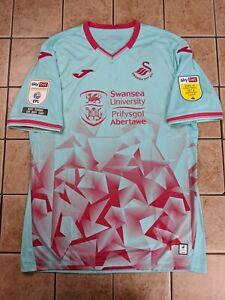 Jordan Morris Swansea City 20/21 Away Authentic Jersey Joma Men's Badges