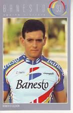 CYCLISME carte  cycliste ROBERTO LEZAUN équipe BANESTO 1993