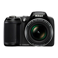 Nikon Coolpix L340 20.2 MP Digital Camera 28x Optical Zoom Black PARTS / REPAIR