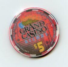 $5.00 Chip. Grand Casino.. Biloxi, MS.. Millennium Chip. Year 2000