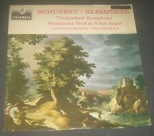 Schubert Symphonines Nos. 5 And 8 Klemperer Columbia ‎ 33CX 1870 LP