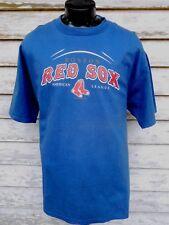 BOSTON RED SOX  MEN'S T SHIRT XL BLUE LEE BASEBALL S. SLEEVE COTTON