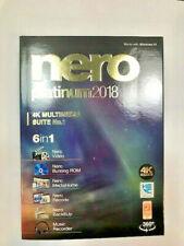 Nero Platinum 2018 PC DVD NEW!