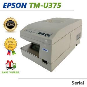 Epson TM-U375 M63UA Dot Matrix POS Impact Receipt Printer with AC Adapter