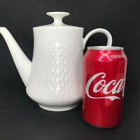 Winterling Bavaria Germany Porcelain White Teapot Coffee Pot with Lid Roslau MCM