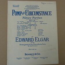 piano ELGAR Pomp and Circumstance in D, March, Boosey + Co