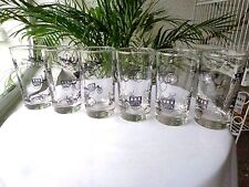 Set of 6 Libbey 1950's Horseless Carriage Water Glasses Black/Gold