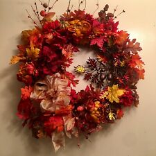 Gorgeous Designer Lush Fall Leaf Door Wall  Wreath Fall Home Decor