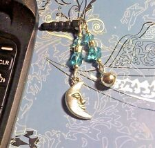 Moon Bell Cell Phone Charm~Dust Plug Cover~All Phones++Free Ship