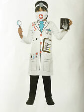 CHILDREN DOCTOR ROLE PLAY FANCY DRESS COSTUME JACKET, HEADPIECE, MOUTH COVER ETC