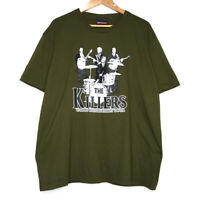 The Killers World Destruction Tour Parody Mens Olive Green T-Shirt Size XL