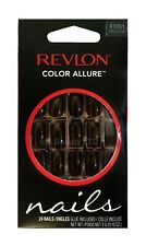 REVLON COLOUR ALLURE FALSE NAILS TIPS 91051 VINTAGE VELVET MEDIUM LENGTH NAIL