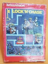 Lock 'n' Chase INTELLIVISION Game COMPLETE Cart, Box, Manual, Overlay 1981 PAL