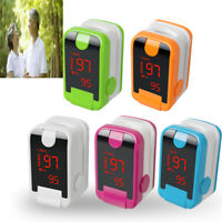 Finger Tip Pulse Oximeter Blood Oxygen Heart Rate Meter Sensor LED  SpO2 Monitor