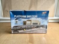 Walthers Cornerstone HO Scale PLATFORM SHELTERS Kit #933-3175 New-Sealed