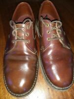 ll Bean Men's Lace Up Plain Toe Oxford Casual/Dress Vibram Soles Shoes Brown 10M