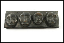 Antique Nice Paiwan carved board figures Taiwan Aboriginal people Formosa 20th