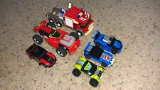 Lot of 6 Lego Race Cars Fire Truck Vehicles 7239 8120 8150 8151 8663