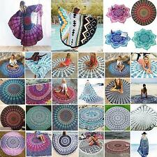 61 Styles Round Indian Mandala Beach Shawl Tapestry Tablecloth Pinic Blanket