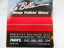 La bella 760FL profunda hablando Bajo Guitarra Cuerdas Luz 43 - 104 herida plana