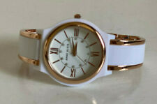 NEW! ANNE KLEIN CRYSTALS TWO-TONE WHITE & ROSE GOLD BRACELET WATCH $85 SALE