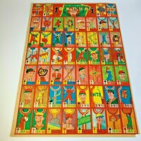 Vintage Japanese Baseball Rare Menko Card  uncut sheet  ' Giants vs Siels '