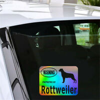 Warning Protected By Rottweiler Dog Sticker Car Window Home Wall Vinyl Decal