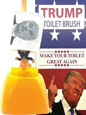 Donald Trump Toilet Brush And Holder With Donald Trump Toilet Paper Roll