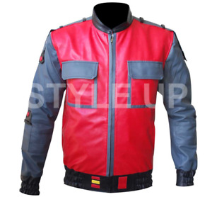 Back to the Future Michael J. Fox Marty McFly Casual Bomber Faux Leather Jacket