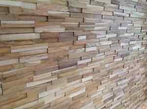 Wooden Teak Splitface Cladding for feature walls ( SAMPLE )