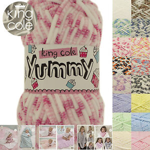 King Cole Yummy Chunky 100g Supersoft Polyester Knitting Yarn