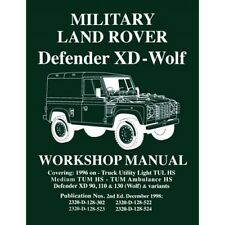 LAND ROVER DEFENDER XD WOLF 90 110 130-manuale officina lrmww NUOVO