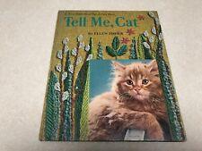 Vtg 1965 Tell Me, Cat Ellen Fisher Crewel Stitchery Virginia Tiffany Tell A Tale